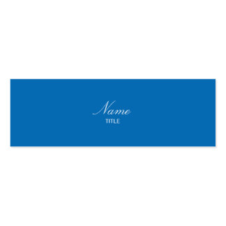 Dazzling Blue Small Elegante Pack Of Skinny Business Cards