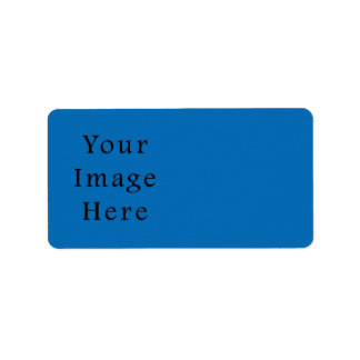 Dazzling Bright Blue Color Trend Blank Template Address Label