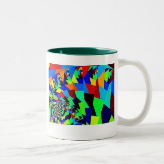 Dazzling Buzz Saw Two-Tone Coffee Mug
