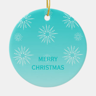 Dazzling Christmas Stars Ornament, Aqua Christmas Ornament
