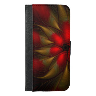 dazzling colored poinsettia abstract iPhone 6/6s plus wallet case
