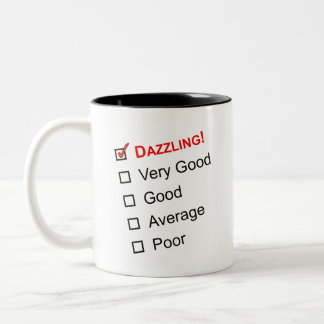 DAZZLING Customer Service Award Two-Tone Coffee Mug