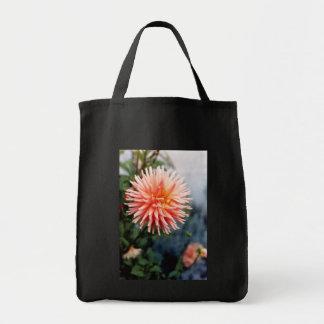 Dazzling Dahlia Flower Canvas Bags