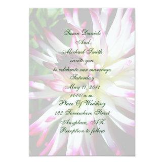 Dazzling Dahlia Flower Wedding Invitation