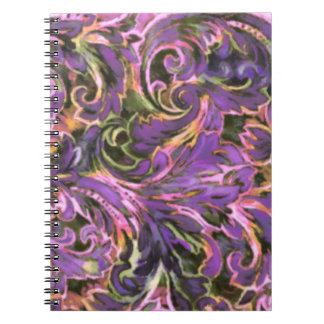 Dazzling Damask Spiral Note Books