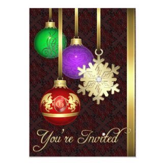 Dazzling Decorations Office Brown Holiday Card 13 Cm X 18 Cm Invitation Card
