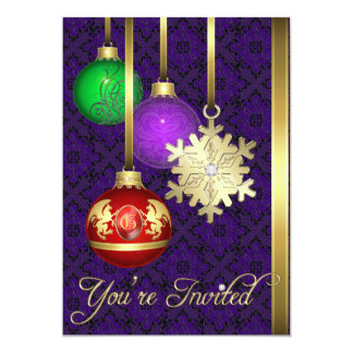 Dazzling Decorations Office Purple Holiday Card 13 Cm X 18 Cm Invitation Card