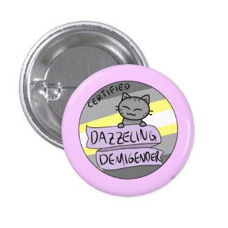 Dazzling Demigender 3 Cm Round Badge