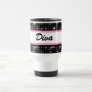Dazzling Diamond Pink Bling Travel Mug