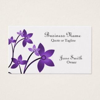Dazzling Elegance Floral Business Card, Eggplant Business Card