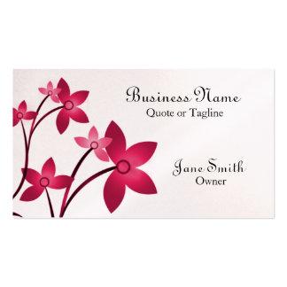 Dazzling Elegance Floral Business Card, Magenta Pack Of Standard Business Cards
