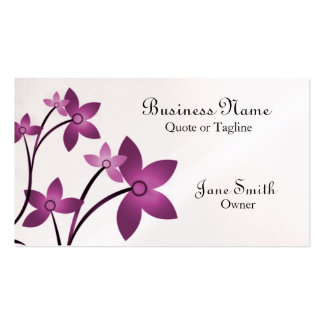 Dazzling Elegance Floral Business Card, Wisteria Pack Of Standard Business Cards