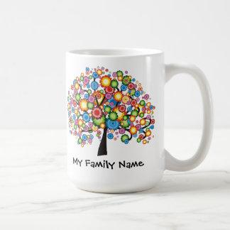 Dazzling Family Tree Basic White Mug