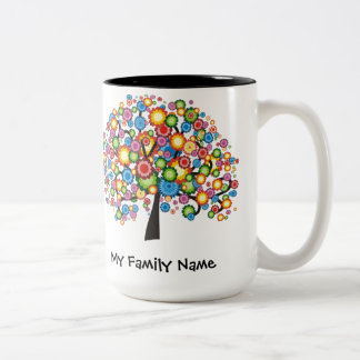 Dazzling Family Tree Two-Tone Mug