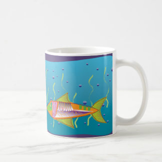 Dazzling Fantasy Fish underwater Basic White Mug