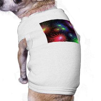 Dazzling Fireworks Dog T-shirt