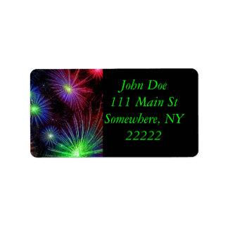 Dazzling Fireworks Address Label