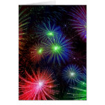 Dazzling Fireworks Note Card