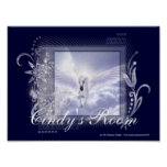 Dazzling Flying Unicorn Customisable Poster Print