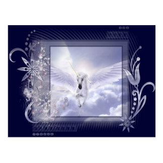 Dazzling Flying Unicorn Tag Series Postcard