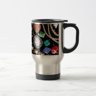 Dazzling gems stainless steel travel mug