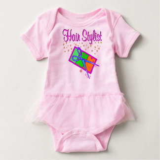DAZZLING HAIR STYLIST AND BEAUTICIAN BABY BODYSUIT