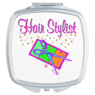DAZZLING HAIR STYLIST AND BEAUTICIAN COMPACT MIRROR