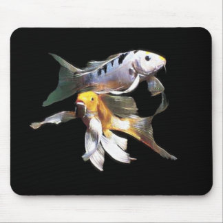 Dazzling Koi Pair Mouse Pad