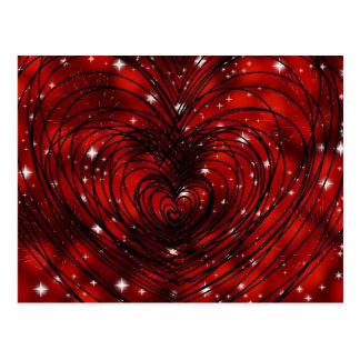 Dazzling Love Heart Postcard