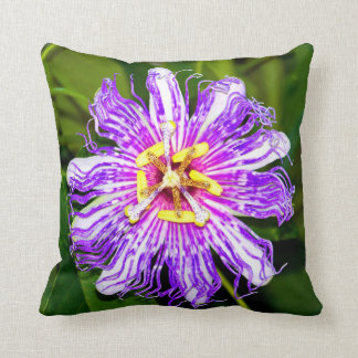 Dazzling Passion Flower Throw Cushions