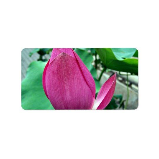Dazzling Pink Lotus Flower Label