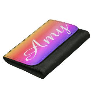 Dazzling rainbow wallet