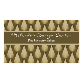 Dazzling Raindrops Business Card, Chocolate Brown Pack Of Standard Business Cards