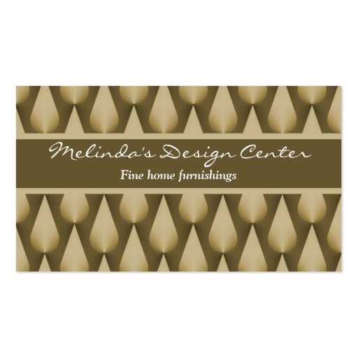 Dazzling Raindrops Business Card, Chocolate Brown