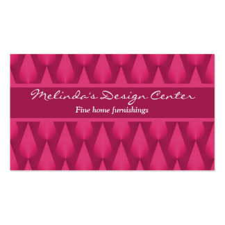 Dazzling Raindrops Business Card, Magenta Pack Of Standard Business Cards
