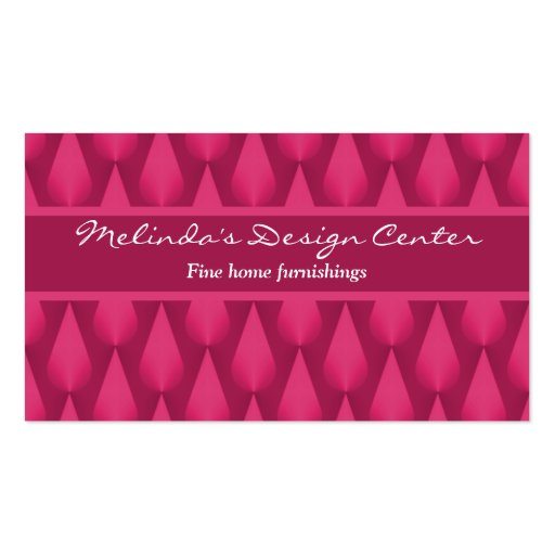 Dazzling Raindrops Business Card, Magenta