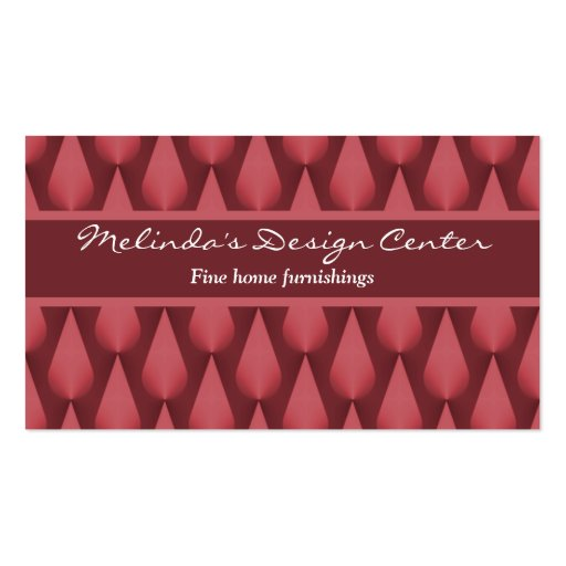 Dazzling Raindrops Business Card, Maroon