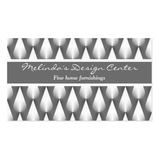 Dazzling Raindrops Business Card, Metallic Gray