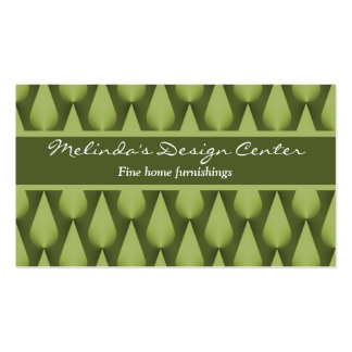 Dazzling Raindrops Business Card, Olive Green Pack Of Standard Business Cards