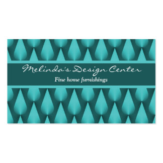 Dazzling Raindrops Business Card, Vibrant Teal Pack Of Standard Business Cards