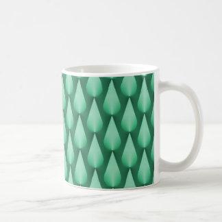 Dazzling Raindrops Mug, Mint Green Basic White Mug