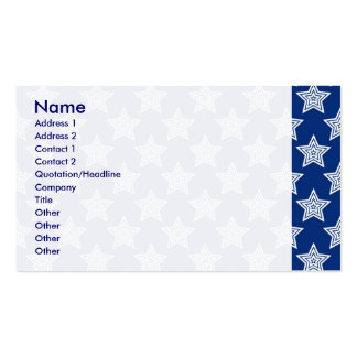 Dazzling stars on blue pack of standard business cards
