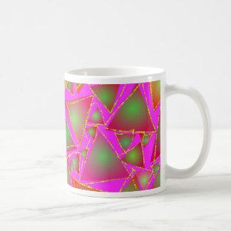 Dazzling Triangles Basic White Mug
