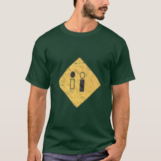 DB07 - Distressed Street Sign Logo - Forest Green  T-Shirt