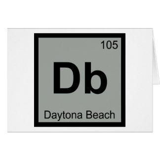 Db - Daytona Beach Florida City Chemistry Symbol Greeting Cards