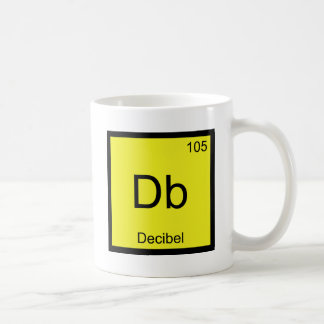 Db - Decibel Chemistry Element Symbol Noise Tee Coffee Mug
