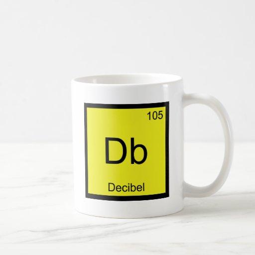 Db - Decibel Chemistry Element Symbol Noise Tee Coffee Mugs