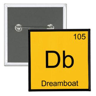 Db - Dreamboat Chemistry Element Symbol Funny Tee 15 Cm Square Badge