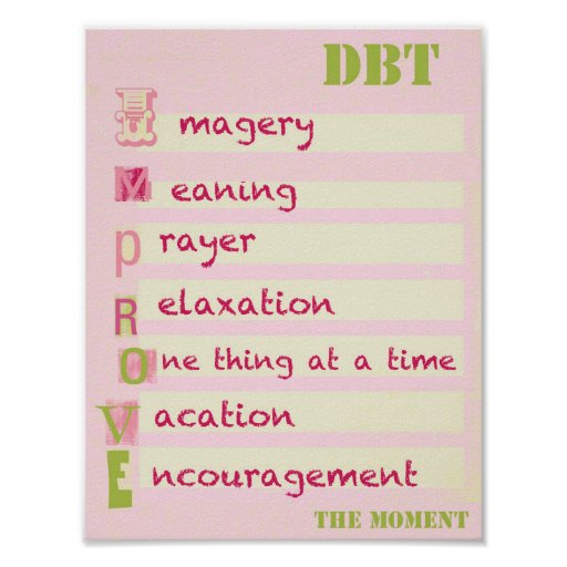 DBT - Improve the Moment Acronym POSTER