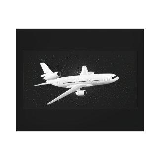 DC-10 Night Flight Canvas Print